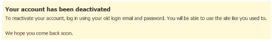 Deactivate or Delete Fb Account