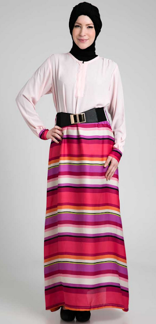 Contoh Model Baju Dress MUslim Terbaru 2015