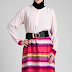 Contoh Model Baju Dress Muslim Terbaru 2018