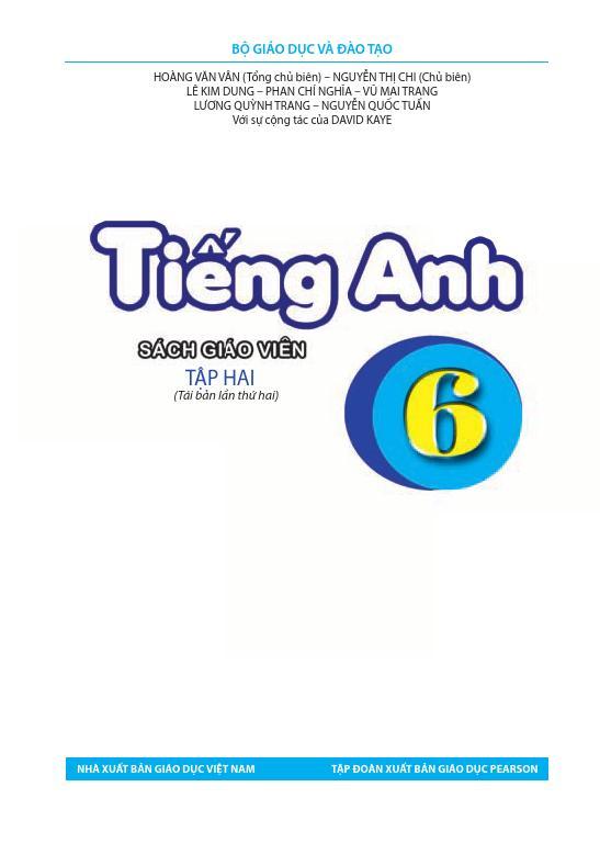 Sách Giáo Viên Tiếng Anh 6 Tập 2