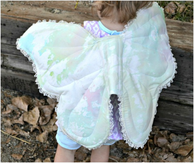 Watercolor Wings with Kid Watercolored Fabric