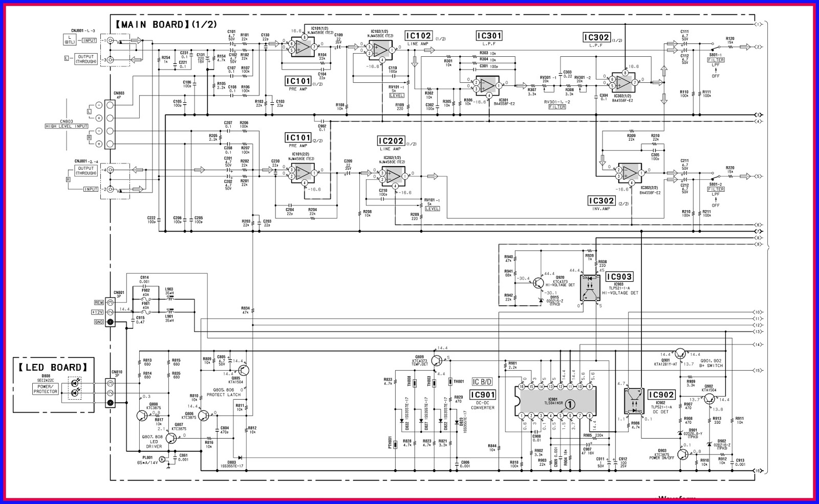 Electronic Equipment Repair Centre Sony Xm 2200gtx Idle Current Led Board Wiring Diagram Circuit