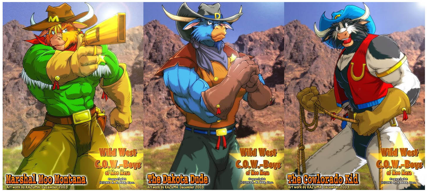 Wild West C O W Boys Of Moo Mesa 174