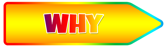 "Yellow Arrow with the word ""Why"" on it"