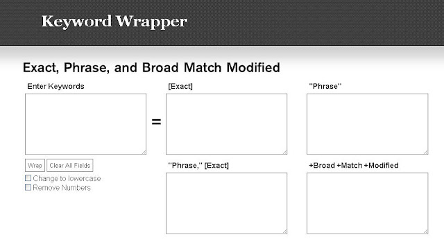 keyword wrapper tool screenshot