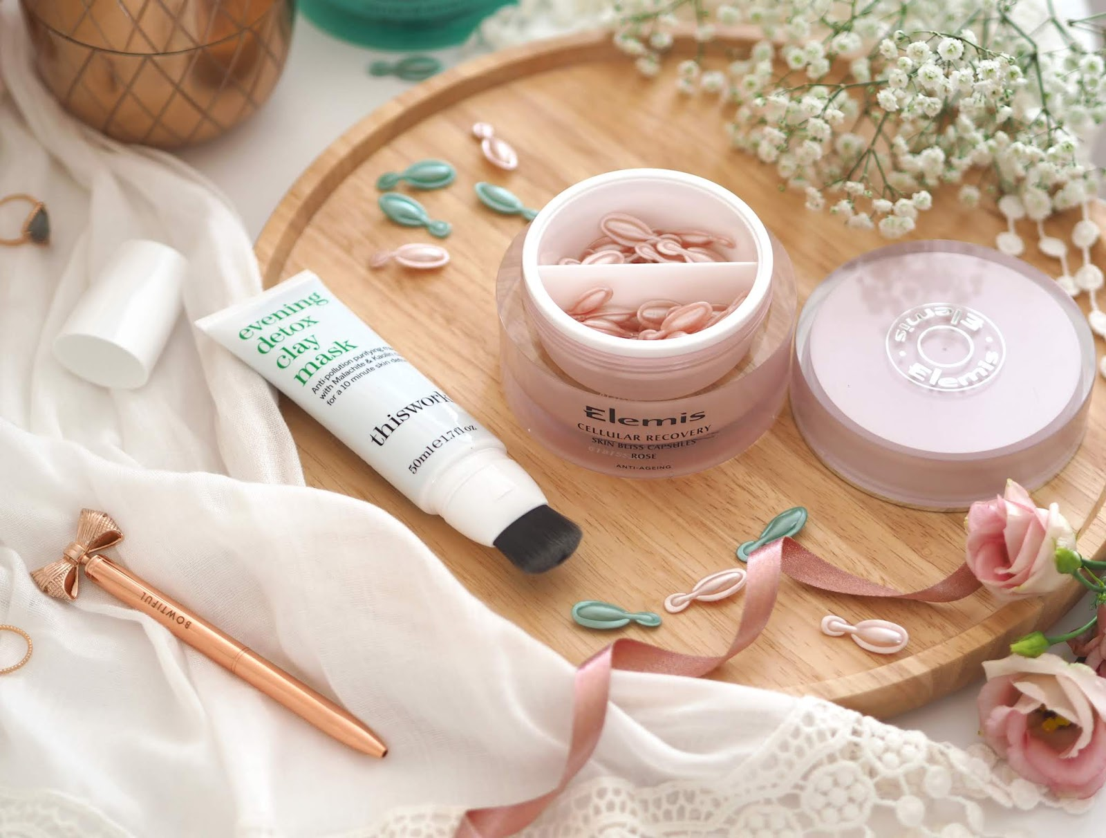 Detoxing My Skin This Spring, Katie Kirk Loves, UK Blogger, Beauty Blogger, Skincare Blogger, Elemis, Elemis Skin Bliss Capsules, This Works, Detox Face Mask