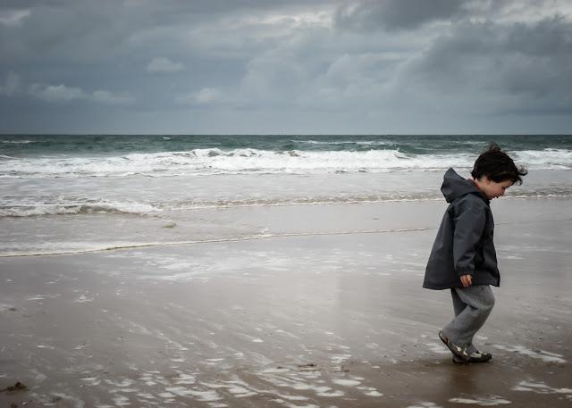 Fotografiando bajo la lluvia, en la playa