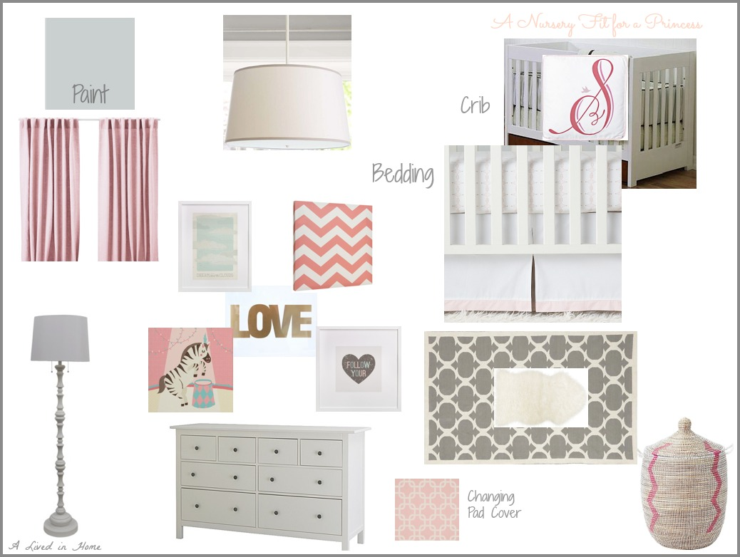 A Lived in Home: Pink & Gray Nursery Mood Board