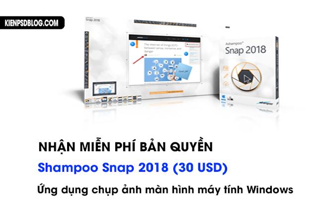 Nhận miễn phí bản quyền Ashampoo Snap 2018 (30 USD) - Ứng dụng chụp ảnh màn hình máy tính Windows