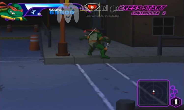 تحميل لعبة سلاحف النينجا Ninja Turtles مضغوطة