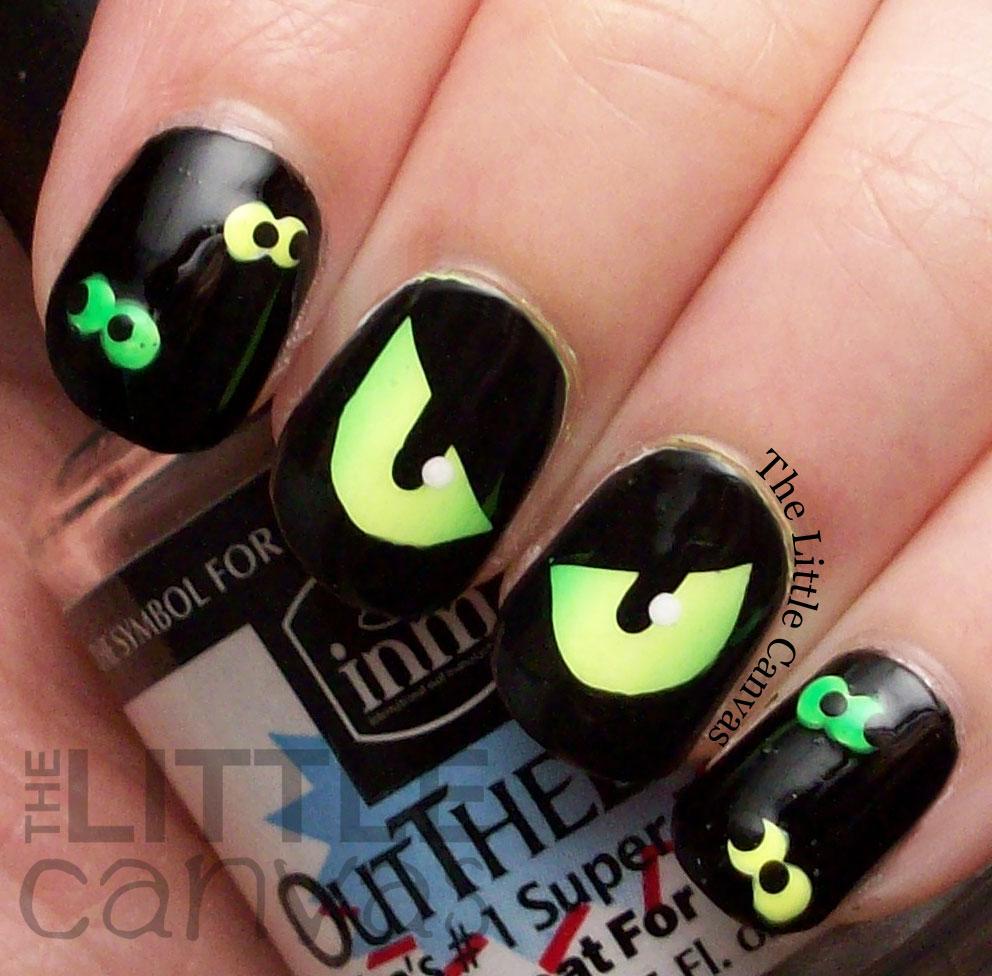 Spooky Eye Nail Art - The Little Canvas