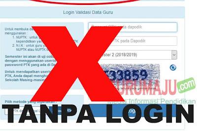 3 Langkah Cek Info GTK 2019 Tanpa Password dan Username (Tanpa Login)
