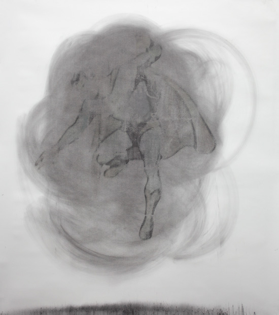 Mircea Suciu  Double Trouble, 2011 charcoal on paper 170 x 150 cm