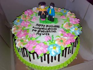 cake wisuda bunga warna warni