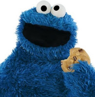 Imagen del Monstruo de las Galletas, Triqui, un muñeco peludo de color azul intenso