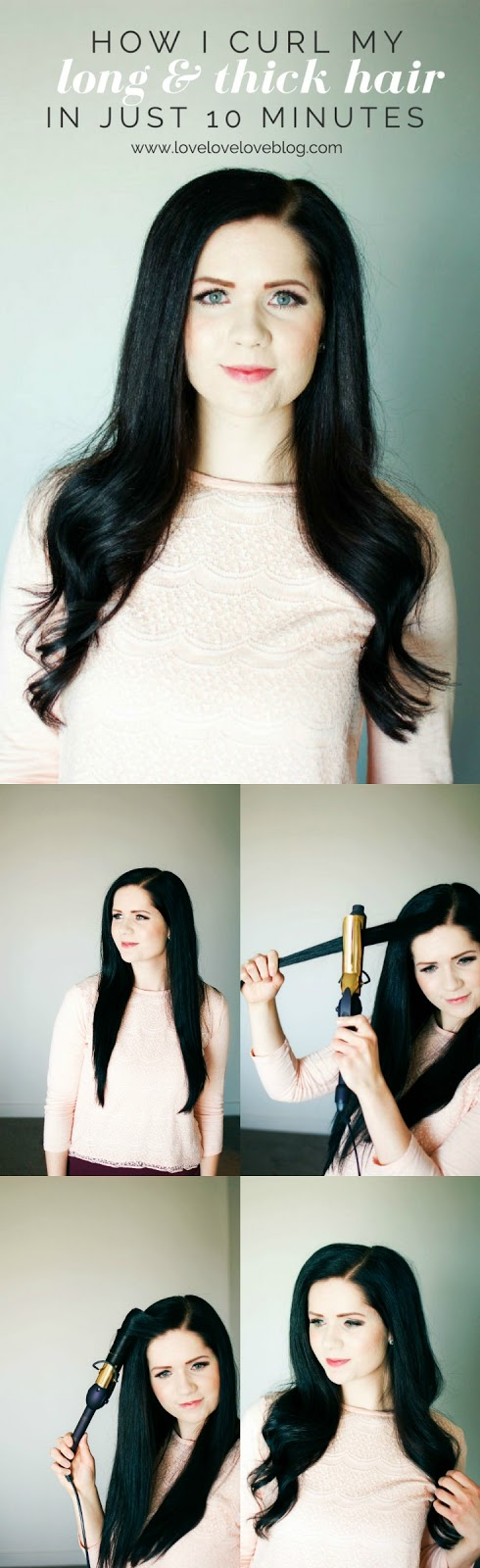 long hair curling tutorial