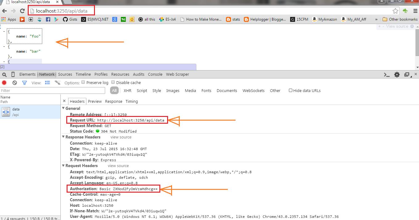 Nodejs REST API Authentication using Passport | Eshwar