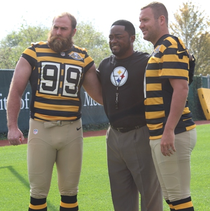 170920db1 The Pittsburgh Steelers have announced via their official website that they  will be wearing their 1934 throwback jersey this week against the  Washington ...