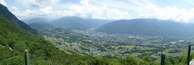 Panorama sur Albertville depuis le Fort de Tamié