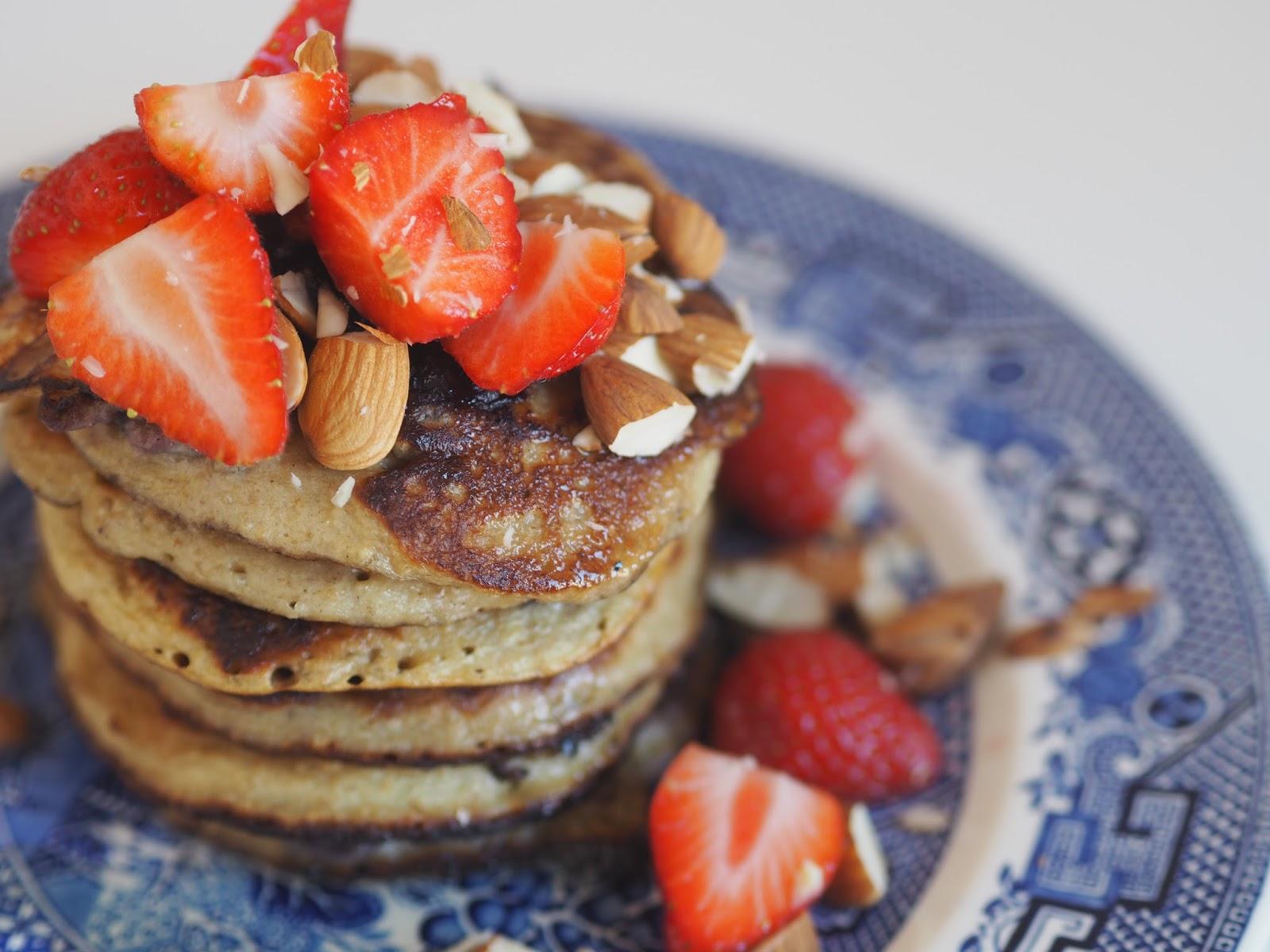 gluten free blueberry pancakes