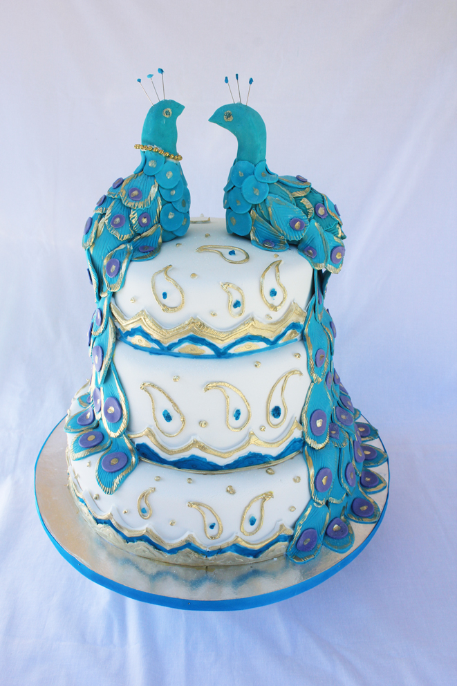 Lulu Belle Cakes Peacock Wedding Cake