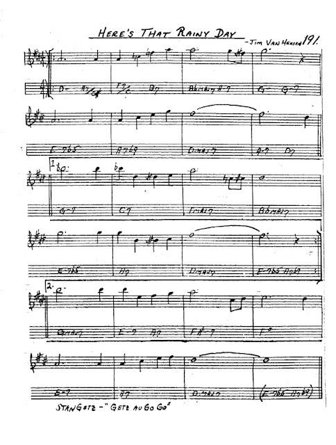 Partitura Saxofón Jimmy Van Heusen