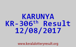 KARUNYA Lottery KR 306 Results 12-8-2017