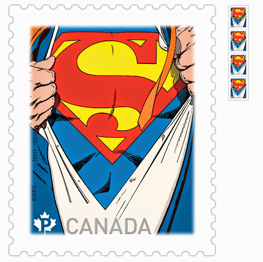 Superman Stamps and Postcards