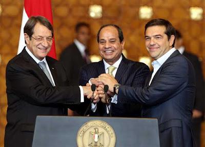 مصر وقبرص واليونان