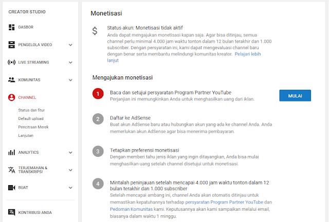 Peraturan Baru YouTube Adsense