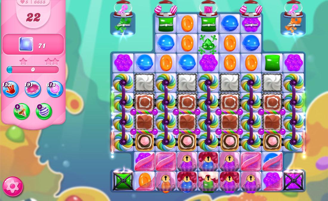 Candy Crush Saga level 6655