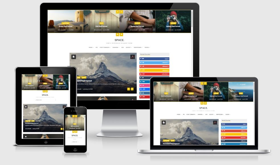 Space - Awesome Blogger Responsive Personal Theme