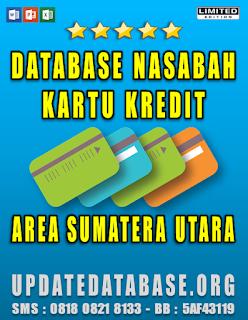 Jual Database Nasabah Kartu Kredit Sumatera Utara