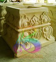 pengrajin seni ukir batu alam paras putih