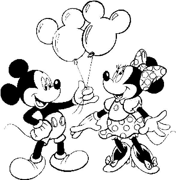 Mickey Mouse E Minnie Desenhos Preto E Branco Para Colorir
