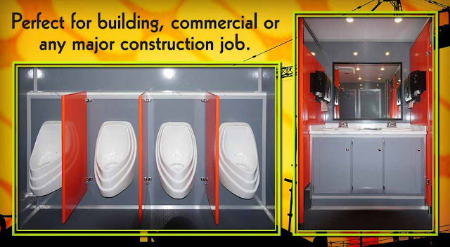 Construction Bathroom Trailer