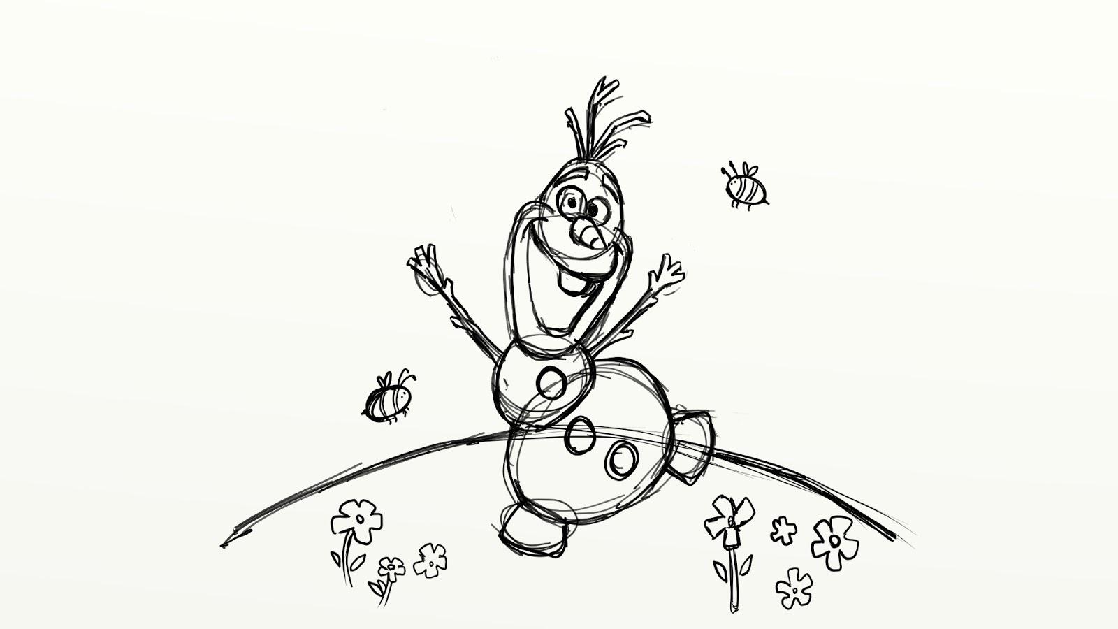 Colorear Dibujos De Olaf