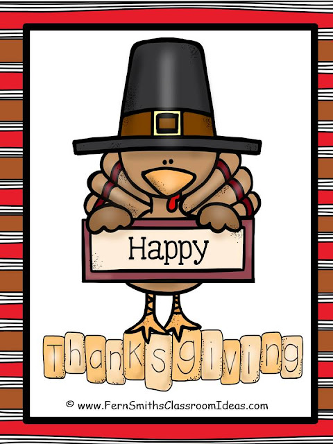 Here's a Cute Little Free Thank You Thanksgiving Card for Your Students!