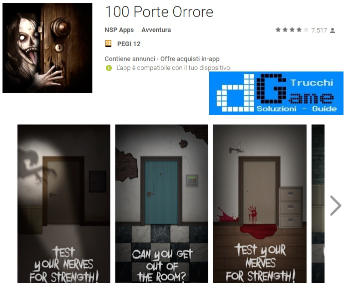Soluzioni 100 Porte Orrore livello 11 12 13 14 15 16 17 18 19 20 | Trucchi e Walkthrough level