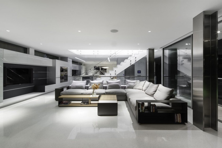 modern mansion living room. World Of Architecture Modern Mansion On The Beach By Dan Brunn. Pictures House Living Room Extraordinary L