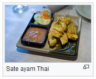Sate ayam Thai atau thailand wisataarea.com