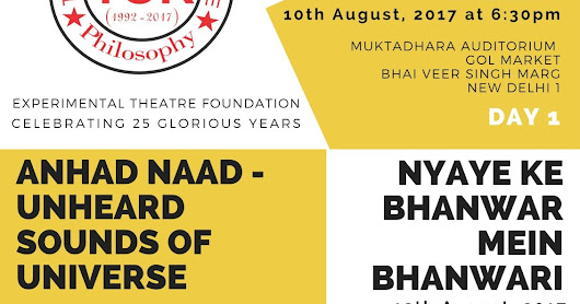 "25 years of ""Theatre of Relevance"" :3-days Theatre festival in Delhi"