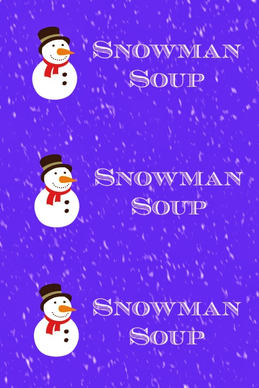 photograph regarding Snowman Soup Printable Tag called East Coastline Mommy: Snowman Soup - Uncomplicated Reward for Clmates