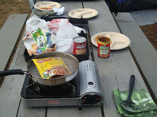 cooking outdoors, camping stove, tent, catalina island