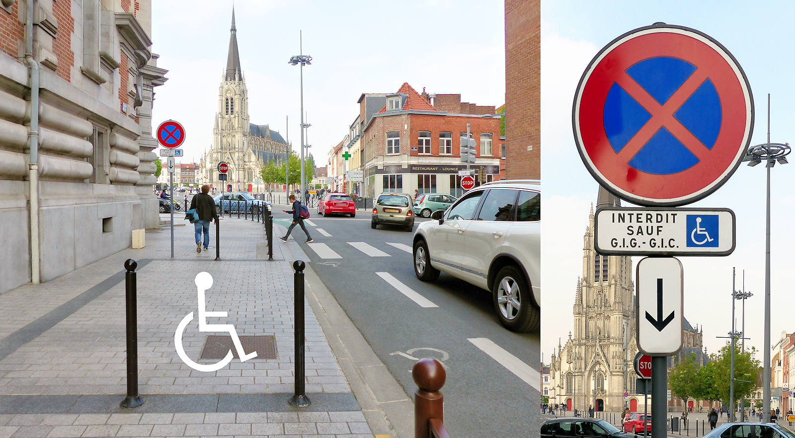 Stationnement G.I.G. G.I.C. - Tourcoing, rue des Anges