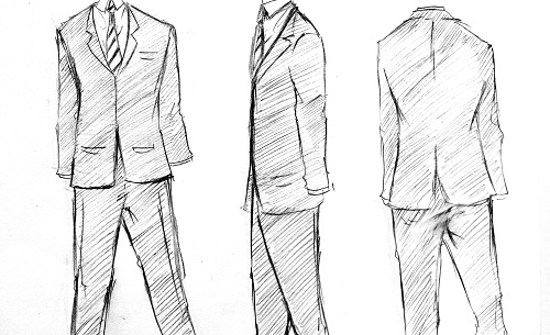 Cara Menggambar Jas Suit Mayagami