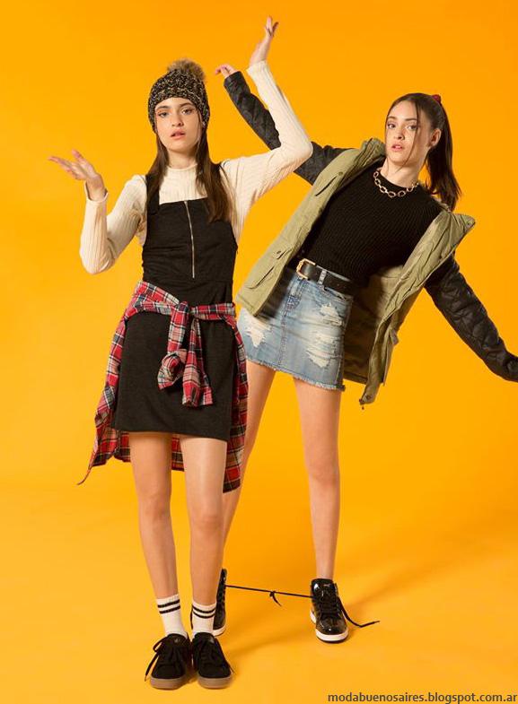 Moda juvenil vestidos, camperas y minis otoño invierno 2016 Muaa. Moda juvenil otoño invierno 2016.
