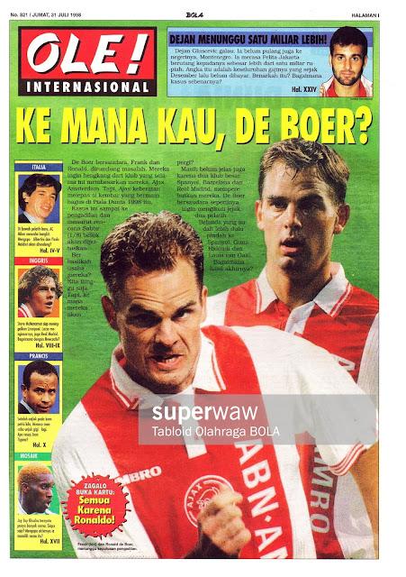 FRANK AND RONAL DE BOER AJAX AMSTERDAM 1998