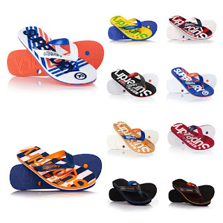 £6.99 New Mens Superdry Flip-Flops Various Colours and Styles AC KRUGER TOE BLACK (S)