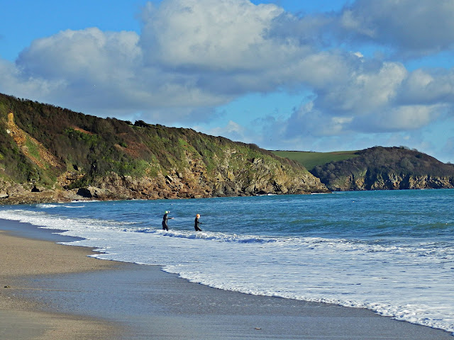 Pentewan beach in March